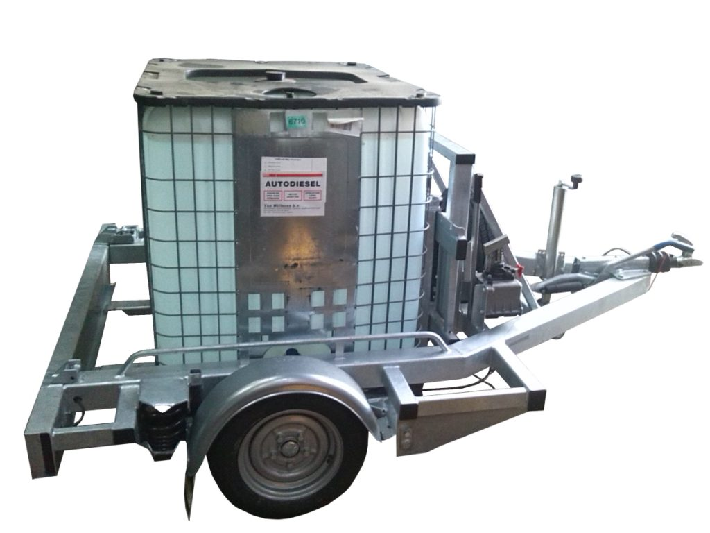 Palettenanhänger mit IBC / Flued container